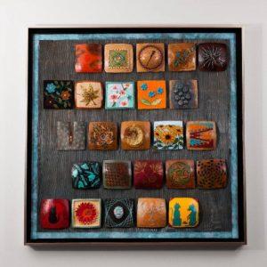 """2012 - 4"""" Gourd Tile Framed Hanging"""